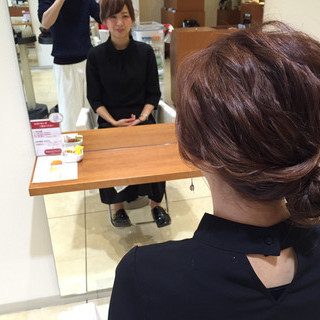 ヘアアレンジ ショート ゆるふわ 波ウェーブ ヘアスタイルや髪型の写真・画像