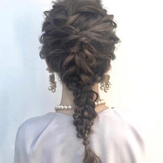 ヘアアレンジ グレージュ セミロング イルミナカラー ヘアスタイルや髪型の写真・画像 ヘアスタイルや髪型の写真・画像