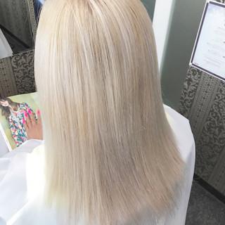外国人風 ハイライト ハイトーン 秋 ヘアスタイルや髪型の写真・画像