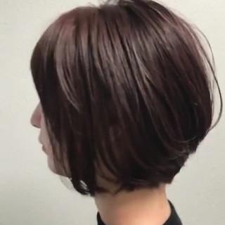 ハイライト ミニボブ ナチュラル ショートボブ ヘアスタイルや髪型の写真・画像