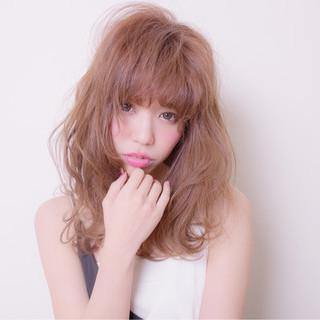 フリンジバング 大人女子 こなれ感 フェミニン ヘアスタイルや髪型の写真・画像