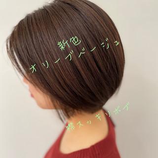 髪質改善 髪質改善カラー ベリーショート ボブ ヘアスタイルや髪型の写真・画像
