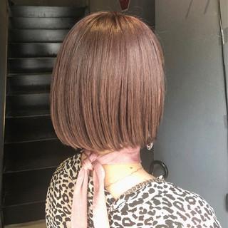 ピンクバイオレット ピンク ピンクアッシュ ガーリー ヘアスタイルや髪型の写真・画像