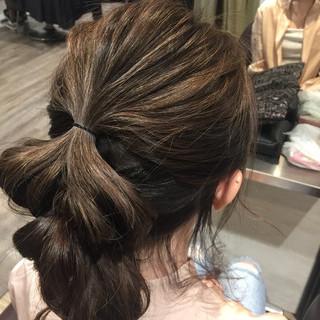 ショート ガーリー 簡単ヘアアレンジ ミディアム ヘアスタイルや髪型の写真・画像 ヘアスタイルや髪型の写真・画像