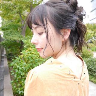 ハイライト 簡単ヘアアレンジ デート ヘアアレンジ ヘアスタイルや髪型の写真・画像