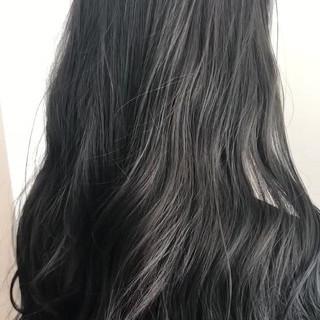 透明感 オルチャン ロング 渋谷系 ヘアスタイルや髪型の写真・画像