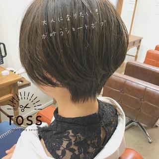ショートボブ ショート ミニボブ こなれ感 ヘアスタイルや髪型の写真・画像