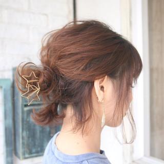 ヘアアレンジ デート ショート お団子 ヘアスタイルや髪型の写真・画像 ヘアスタイルや髪型の写真・画像