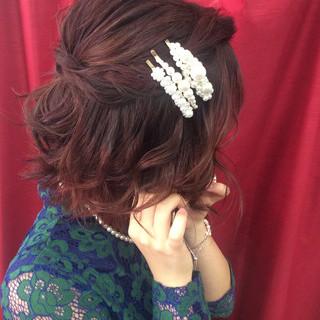 ヘアアレンジ ボブ 結婚式 結婚式ヘアアレンジ ヘアスタイルや髪型の写真・画像