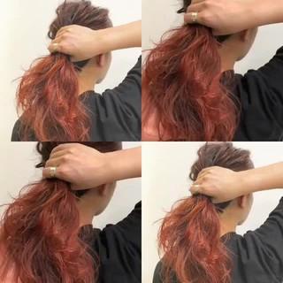 ストリート ブリーチ ミディアム ダブルカラー ヘアスタイルや髪型の写真・画像