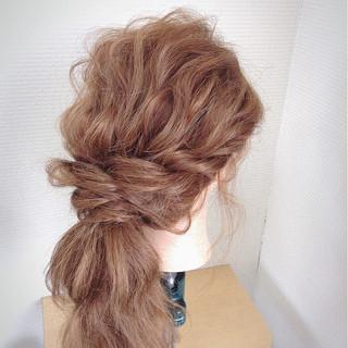 ヘアアレンジ ポニーテール ロング フェミニン ヘアスタイルや髪型の写真・画像