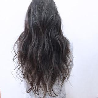 グラデーションカラー 外国人風 ハイライト ロング ヘアスタイルや髪型の写真・画像