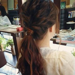 簡単ヘアアレンジ ポニーテール ショート 簡単 ヘアスタイルや髪型の写真・画像 ヘアスタイルや髪型の写真・画像
