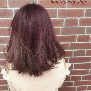 色気 ピンク ボブ ガーリー ヘアスタイルや髪型の写真・画像