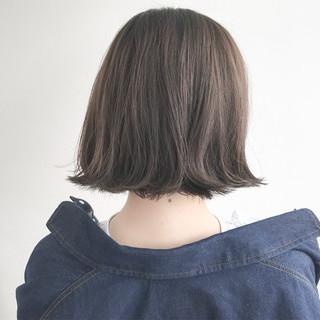 外ハネ 切りっぱなし 大人かわいい ショートボブ ヘアスタイルや髪型の写真・画像