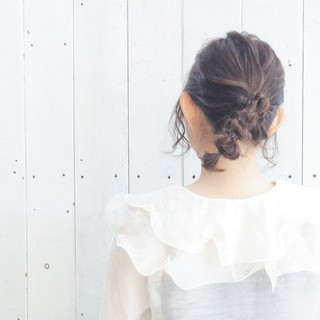 簡単ヘアアレンジ ポニーテール アウトドア ガーリー ヘアスタイルや髪型の写真・画像