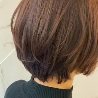 ショート ラベンダーカラー 質感カラー ショートボブ ヘアスタイルや髪型の写真・画像