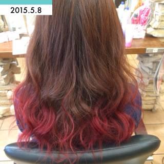 おフェロ グラデーションカラー 春 パンク ヘアスタイルや髪型の写真・画像