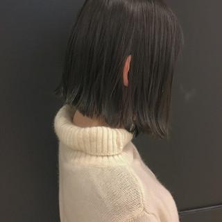 グレージュ 外国人風 冬 ストリート ヘアスタイルや髪型の写真・画像