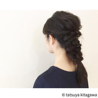 簡単 ミディアム ヘアアレンジ ショート ヘアスタイルや髪型の写真・画像 ヘアスタイルや髪型の写真・画像