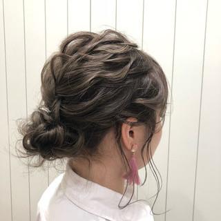 デート ヘアアレンジ 成人式 ミディアム ヘアスタイルや髪型の写真・画像