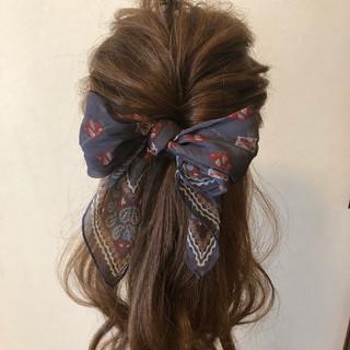 こなれ感 ロング フェミニン ヘアアレンジ ヘアスタイルや髪型の写真・画像