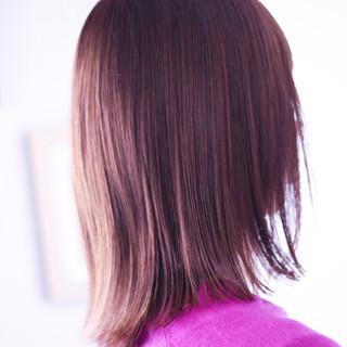 ピンクアッシュ ラベンダーピンク セミロング ピンクブラウン ヘアスタイルや髪型の写真・画像