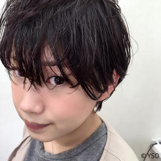 暗髪 ウェットヘア モード 黒髪 ヘアスタイルや髪型の写真・画像 ヘアスタイルや髪型の写真・画像