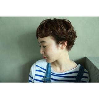 春 ストリート ベリーショート ショート ヘアスタイルや髪型の写真・画像