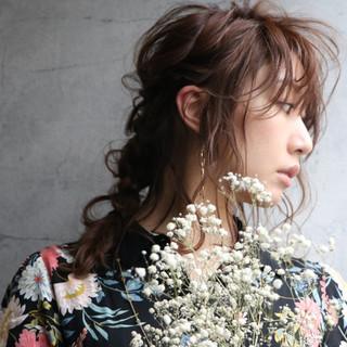 ヘアセット 簡単ヘアアレンジ アンニュイほつれヘア フェミニン ヘアスタイルや髪型の写真・画像