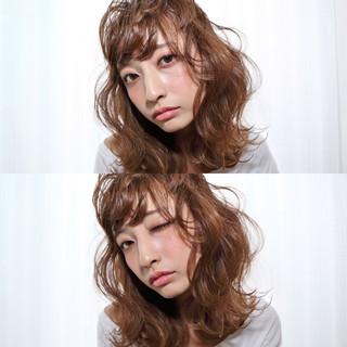 フェミニン ゆるふわ ガーリー ミディアム ヘアスタイルや髪型の写真・画像