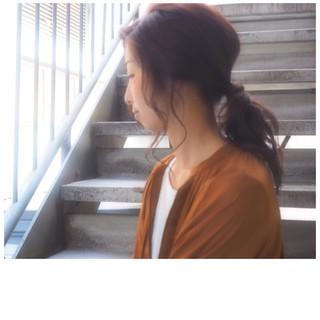 外国人風 ナチュラル フェミニン 簡単ヘアアレンジ ヘアスタイルや髪型の写真・画像