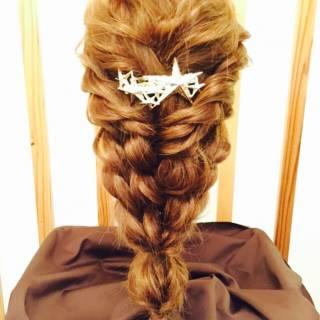 大人かわいい 三つ編み ナチュラル ゆるふわ ヘアスタイルや髪型の写真・画像 ヘアスタイルや髪型の写真・画像