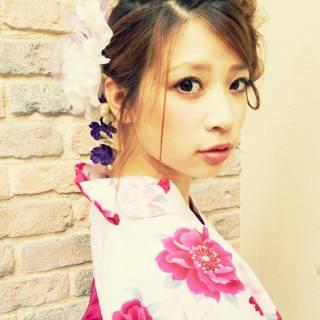 ヘアアレンジ 成人式 コンサバ 夏 ヘアスタイルや髪型の写真・画像