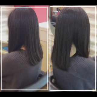 艶髪 社会人の味方 髪質改善カラー 髪質改善トリートメント ヘアスタイルや髪型の写真・画像