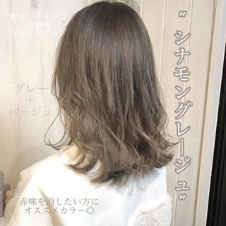 アッシュ ブルージュ ネイビージュ グレージュ ヘアスタイルや髪型の写真・画像