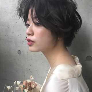 パーマ 女子会 ナチュラル デート ヘアスタイルや髪型の写真・画像