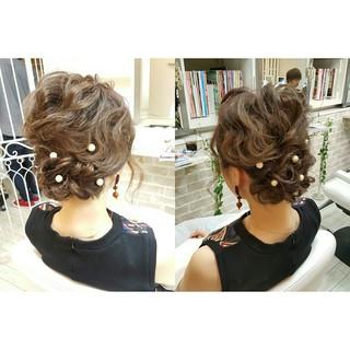 ショート セミロング 大人女子 ヘアアレンジ ヘアスタイルや髪型の写真・画像