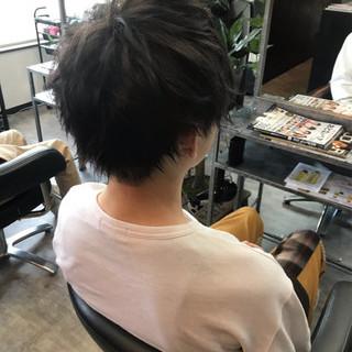 モテ髪 ナチュラル ボーイッシュ ショート ヘアスタイルや髪型の写真・画像