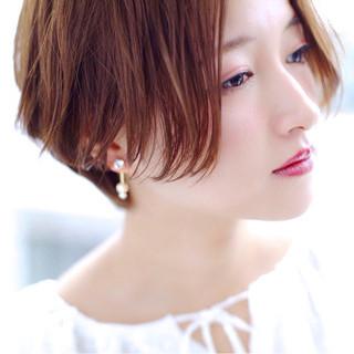 大人かわいい ショート ナチュラル かわいい ヘアスタイルや髪型の写真・画像
