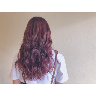 レッド 春 夏 ローライト ヘアスタイルや髪型の写真・画像