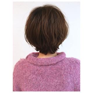 パーマ ショートヘア ショート ショートボブ ヘアスタイルや髪型の写真・画像