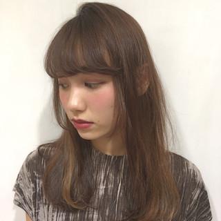 アッシュ 冬 グラデーションカラー 黒髪 ヘアスタイルや髪型の写真・画像