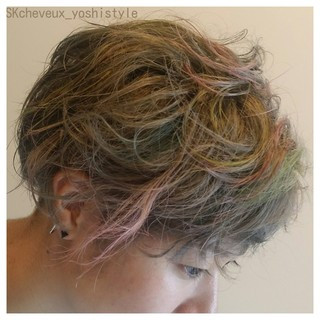 グレージュ 外国人風 坊主 モード ヘアスタイルや髪型の写真・画像