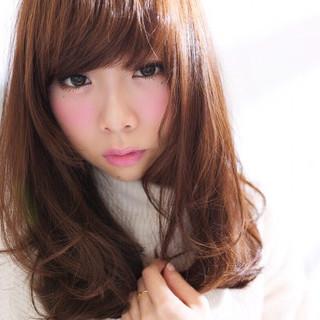 セミロング ナチュラル 前髪あり フェミニン ヘアスタイルや髪型の写真・画像 ヘアスタイルや髪型の写真・画像