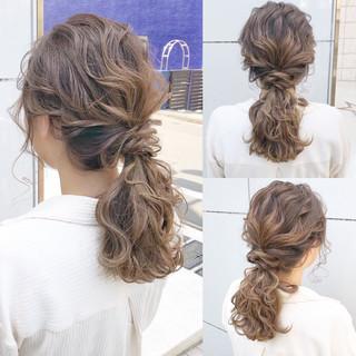 簡単ヘアアレンジ ミディアム ナチュラル 結婚式 ヘアスタイルや髪型の写真・画像 ヘアスタイルや髪型の写真・画像