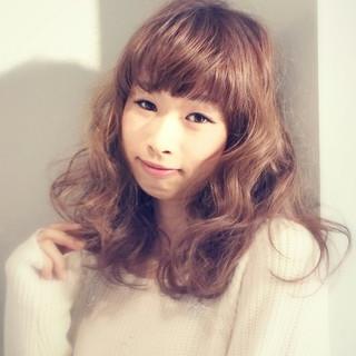 大人かわいい ロング フェミニン ガーリー ヘアスタイルや髪型の写真・画像