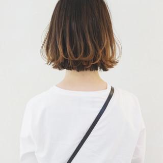 インナーカラー グラデーションカラー ボブ アウトドア ヘアスタイルや髪型の写真・画像