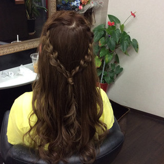 ナチュラル ロング 簡単ヘアアレンジ イルミナカラー ヘアスタイルや髪型の写真・画像