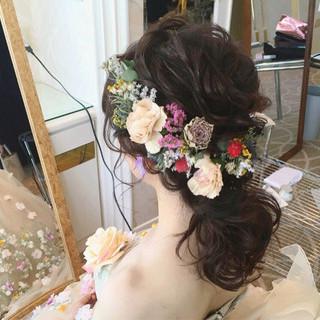 パーティ 大人かわいい 結婚式 ガーリー ヘアスタイルや髪型の写真・画像
